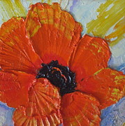 Print Of Poppy Metal Prints - Orange Poppy Metal Print by Paris Wyatt Llanso