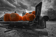 Rusty Pickup Truck Photos - Orange Pumpkins by Mike Horvath