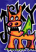 Grafitti Mixed Media - Orange PuppyDragon by Jera Sky