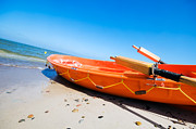 Rendered Prints - Orange rescue boat  Print by Michal Bednarek