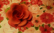 Kathie Mccurdy Prints - Orange Rose Print by Kathie McCurdy