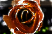 Valentines Day Digital Art - Orange Rose by Sotiris Filippou