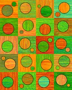 Checkered Drawings - Orange Soup by David K Small