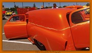 Orange Splash Panel Print by Bobbee Rickard