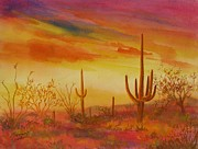 Summer Celeste Metal Prints - Orange Sunset Metal Print by Summer Celeste