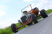 Ford Model T Car Prints - Orange T Print by Jennifer Gross