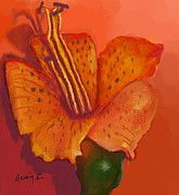 Dessie Durham Art - Orange Tiger Lily by Dessie Durham