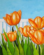 Carol Sabo - Orange Tulips In My...
