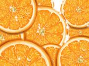 Orange Print by Veronica Minozzi