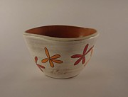 Orange Ceramics Originals - Orange you red by Penny Pierson Burke