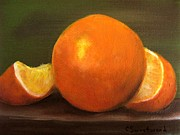 Orange Prints - Oranges Print by Carol Sweetwood