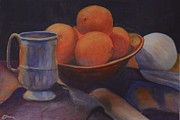 Tankard Prints - Oranges Print by Genevieve Brown