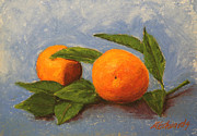 Featured Pastels Posters - Oranges Poster by Marna Edwards Flavell