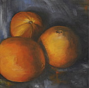 Globe Painting Originals - Oranges No. 2 by Timi Johnson