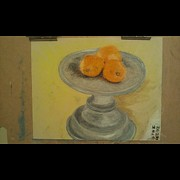 Featured Pastels - Oranges On Platter by George Hall II