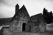 Historical Sight Framed Prints - Oratory known as St Kevins Kitchen Glendalough monastery county wicklow Republic of Ireland Framed Print by Joe Fox