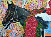 Kentucky Derby Mixed Media Prints - ORB Derby Winner Print by Michael Lee
