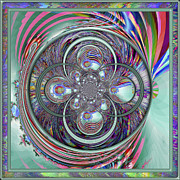 Fractal Orbs Posters - Orb-fuscation Poster by Wendy J St Christopher