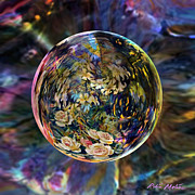 Spheres Digital Art - Orb of Roses Past by Robin Moline