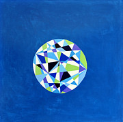 Equilibrium Paintings - Orb - Prismatic Blue by Elle Nicolai