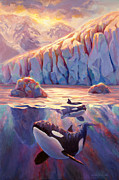 Karen Whitworth - Orca Sunrise at the...