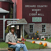 Wine-bottle Posters - Orchard Country Winery Poster by Doug Kreuger