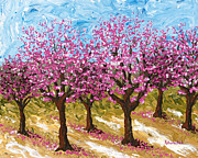 Peaches Art - Orchard by Katherine Young-Beck