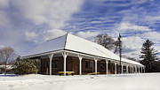 Snow Scene Framed Prints - Orchard Park Depot Framed Print by Peter Chilelli