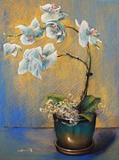 Warm Colors Pastels - Orchid 3 by Cecile Houel