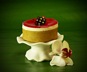 Stylized Food Photos - Orchid and Raspberry Pistachio Mousse Dream by Inspired Nature Photography By Shelley Myke