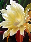 Presence Painting Originals - Orchid Cactus Flower  by Maia Vasilieva