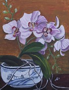 Kim Selig - Orchid in Chinese Bowl