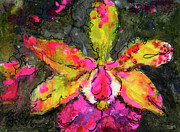 Ginette Fine Art LLC Ginette Callaway - Orchid Modern Expressive Painting