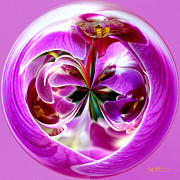 Gladiolas Digital Art Framed Prints - Orchid Orb I Framed Print by Jeff McJunkin
