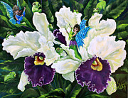 Gail Butler Framed Prints - Orchidstra Concert Framed Print by Gail Butler