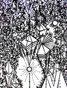 Intricate Drawings Framed Prints - Order and Chaos Framed Print by Devin  Cogger