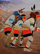 Hopi Indian Paintings - Order Up Rain by Nina Stephens