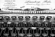 Typewriter Keys Mixed Media Framed Prints - Ordering Cheese BW Framed Print by Angelina Vick