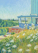 Municipal Painting Prints - Oregon City Elevator in July Print by Dorothy Jenson