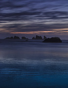 Beach Photograph Framed Prints - Oregon Coast after Sunset Framed Print by Andrew Soundarajan
