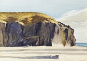 Signed Painting Prints - Oregon Coast Print by Edward Hopper