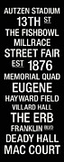 Eugene Posters - Oregon College Town Wall Art Poster by Replay Photos