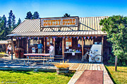 Oregon Country Store Print by Nadine and Bob Johnston