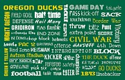 College Football Digital Art Posters - Oregon Ducks Poster by Jaime Friedman