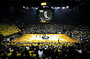 Oregon Ducks Prints - Oregon Ducks Matthew Knight Arena Print by Replay Photos