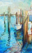 Marina Paintings - Oregon Inlet by Arlissa Vaughn