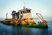 Gloomy Prints - Oregon Ship Wreck Print by Inge Johnsson