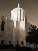 Tim Moore Prints - Oregon State Capitol Print by Tim Moore