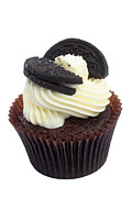 Oreo Framed Prints - Oreo cookie cupcake Framed Print by Rosemary Calvert
