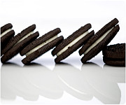 Fat Metal Prints - Oreo Cookies Metal Print by Juli Scalzi